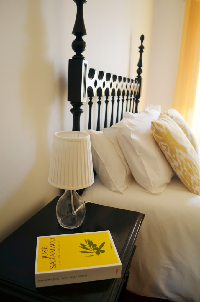 Book on the bed side table